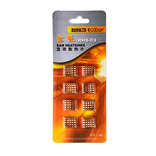 8pcs / Set Kupfer-Kühlkörper zurück Heatsink Cooler Ersatz für VGA GPU DDR DDR2 DDR3 RAM-Speicher-IC-Chipsatz Kühlung - Chipsatz Ram
