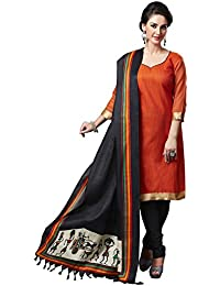 Applecreation Women'S Bhagalpuri Silk Dupatta, Free Size (Black, Dup3018_1)