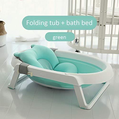 SOHOH Multifunktions-Faltbare Babybadewanne, tragbares Kinderbaby kann Universalbadewanne sitzen und Legen, neugeborenes Isolierungs-Sicherheitsbad ist einfach zu speichern, rosa blau