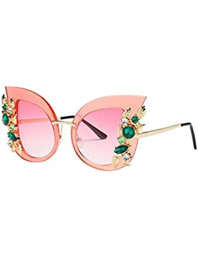 Logobeing Gafas de Sol Mujer Grandes Gafas de Sol Con Orejas de Gato Gafas de Sol de Marca CláSica