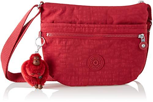 Kipling - Arto S, Bolsos bandolera Mujer, Rojo (Radiant Red C), 3x25x21...