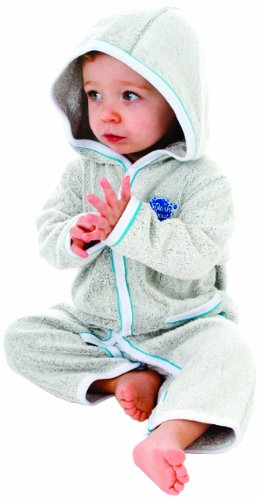 Splash About Baby Einteiliger Anzug Frottee, Turquoise, 6-12 Monate, ASAT6 Sonnenschutz Anzug Baby