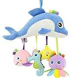 Mitlfuny Unisex Baby Kinder Jungen Zubehör Säuglingspflege,Baby-Hängende Spielwaren mit Bell-Baby-Plüsch-Spielzeug-Säuglingskarikatur-Tiergeklapper-Puppe