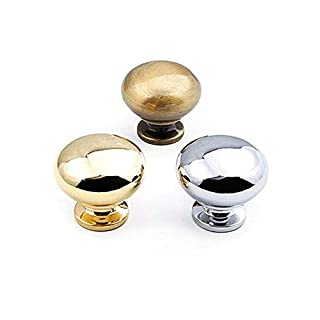 Lvcky 2Pcs Glossy Finish Drawer Knobs, Simple Style Cabinet Cupboard Wardrobe Door Pull Handle, Bronze