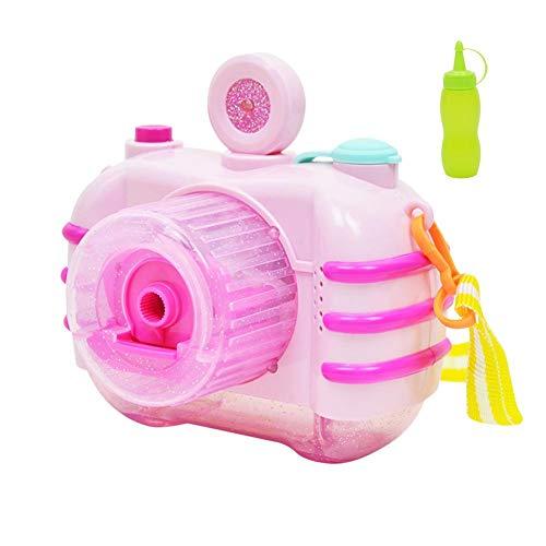 Liuxi Blasenkamera, Elektrische Blase, die Maschinen herstellt Automatische Kamera-Form-Blase-Gebläse Blase-Hersteller Bubble Shooter für Kinder mit Licht und Musik Bubble Gun (Gun Licht Bubble)
