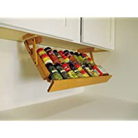 Under Cabinet Mounted Spice Rack (Colonial Maple) by Ultimate Kitchen Storage