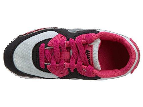 Nike Air Max 90 bambini di stampa (PS) Drk Red / mtllc SLVR / pnk Pw / ginnastica bianche scarpe 11 Multicolore