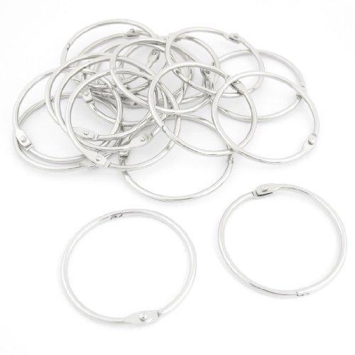 sourcingmapr-20-pcs-22-od-stationery-metal-book-loose-leaf-snap-binder-rings-keychain