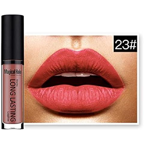 Tongshi Lápiz labial líquido mate impermeable labios brillo labial de larga duración (F)