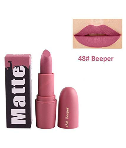 MISS ROSE CREME MATTE MAKE UP LONG LASTING AND WATERPROOF LIPSTICK BULLET 48