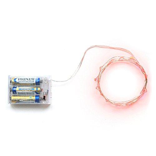 LED Beleuchtung - TOOGOO(R)Mini Micro Batteriebetriebenes LED Schnur Licht Kupferdraht Schlafzimmer LED Lichter fuer Garten Weihnachten Weihnachtsbaum Dekoration (20 LEDs, Rot, - Town 1 Halloween 2 Und