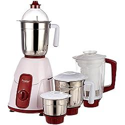 Prestige Elegant 750 Watt Mixer Grinder with 3 Stainless Steel Jar and 1 Juice Extractor Jar