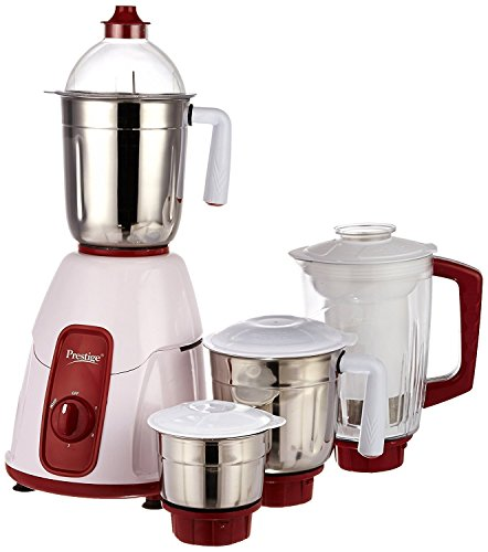 Prestige Elegant 750 Watt Mixer Grinder with 3 Stainless Steel Jar and 1 Juice extractor Jar
