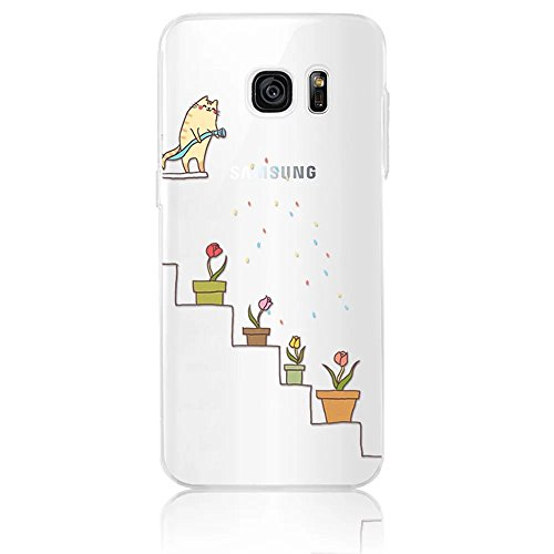 Sunroyal® Cartoon Case Cover Per Samsung Galaxy S7 edge G935F 5.5