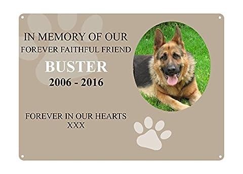 PETS DOG CAT RABBIT MEMORIAL PLAQUE PHOTO 4 Metal Aluminium Sign Plaque Custom Personalised by MegSub (5x7