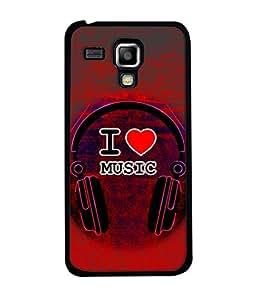Samsung Galaxy S3 Mini I8190, Samsung I8190 Galaxy S III Mini, Samsung I8190N Galaxy S III Mini Back Cover I Love Music Headphone Icon Design From FUSON