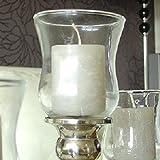 Dekowelten 1 x Teelichthalter aus Glas Gastro - Version/Glasaufsatz für Kerzenleuchter Kerzenständer