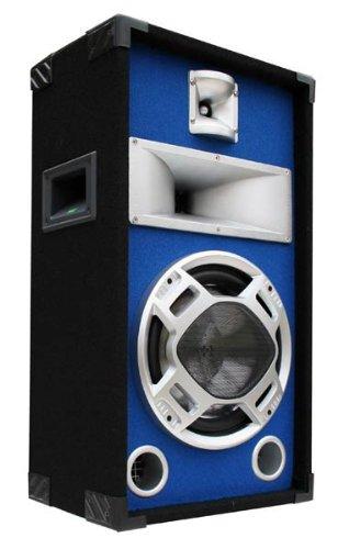 Party PA Lautsprecher Disco BOX 25cm BASS Blue-LED ()