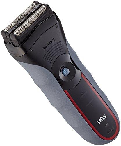 Braun Series 3-320 - Afeitadora (Papel aluminio, Negro, Rojo, Batería/Corriente, Níquel-Hidruro metálico (NiMH), 1h, 45 min)