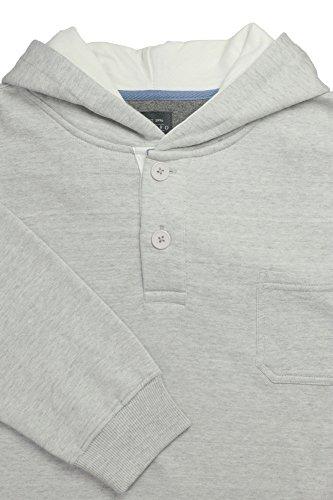 Sweat Hoody von Kitaro in großen Größen, grau melange Hellgrau