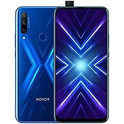 Honor 9X - Smartphone débloqué 4G (6,59 pouces - 128Go stockage - Double Nano SIM - Android 9.1) Bleu [Version française]