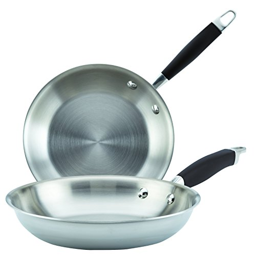 Anolon 31513 Tri-Ply Onyx Skillet Set, Medium, Stainless Steel -