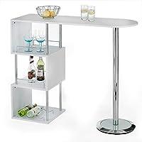 b1fcc0d08dbee5 IDIMEX Table Haute de Bar VIGANDO Mange-Debout comptoir avec 3 étagères  Dont 1 avec
