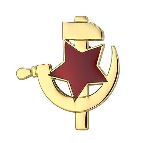 Sowjetischen roten stern mit hammer und sichel icons cccp Ussr emblem Revers Pin Abzeichen