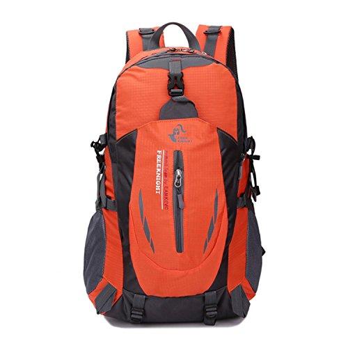 HWJDK Sport Rucksack Wandern Trekking Knapsack Camping Wasser & Tear Resistant Travel Pack Bergsteigen Klettertasche Orange