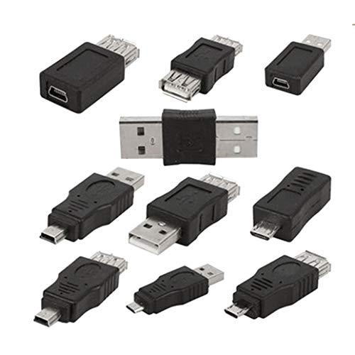 Makwes 10 Stück OTG 5 Pin Adapter Konverter USB männlich auf Micro USB weiblich, Audio & Video Zubehör, Kopfhörer-Zubehör, Adapter - Schwanenhals-anhänger-stecker