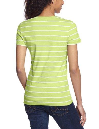 Puma Ess Striped T-shirt pour femme Motif rayures Vert - Jaune