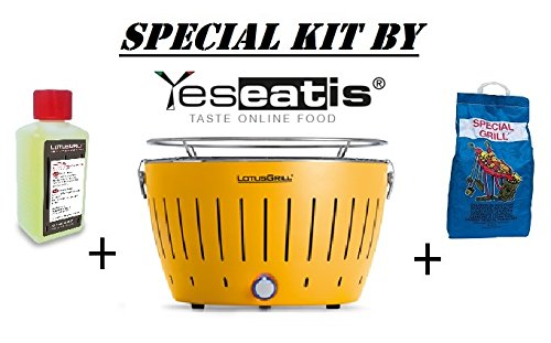 LOTUSGRILL NEW KIT by YESEATIS 2017 - Tabelle Grill + Ignition Kit Charcoal Hochleistungs und Gele - GELB