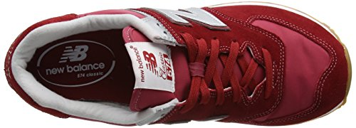 New Balance Ml574hrt, Sneakers basses homme Rouge (Red)