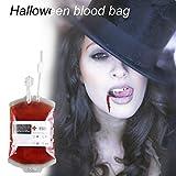 Dailyinshop DIY Blutbeutel Wiederverwendbare Blut Energy Drink Bag Saft Energie Pack für Halloween (Farbe: transparent)