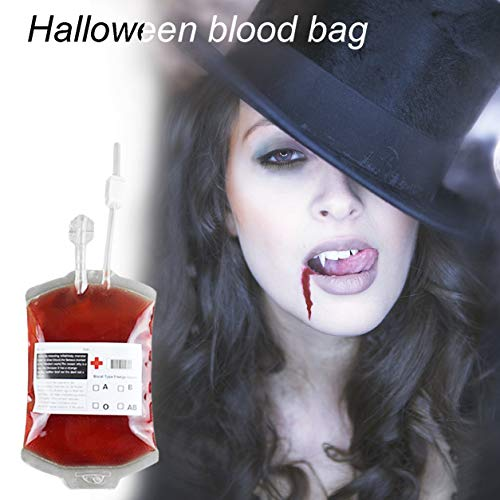 (Dailyinshop DIY Blutbeutel Wiederverwendbare Blut Energy Drink Bag Saft Energie Pack für Halloween (Farbe: transparent))