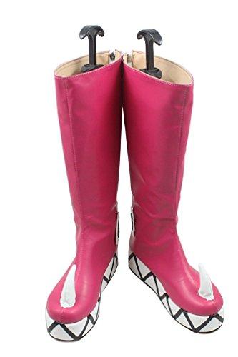 huhe Shoes Rote PU Leder Stiefel Boots Kleidung Props Kostüm Zubehör Mann 44 (Mj Halloween-kostüme)