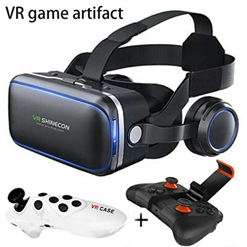 TANG VR Brille mit Controller für 3D Filmea und Spiele, Brille Video Movie Game Brille 3D vr...