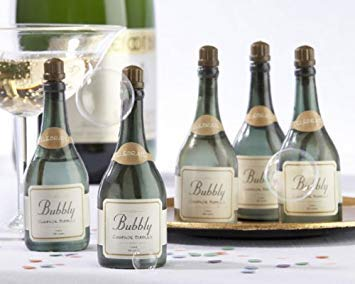 Lote de 48 Pomperos de Jabón Botella de Champagne Champan, ideales para Bodas, Pompas de Jabón Baratas baratos bodas