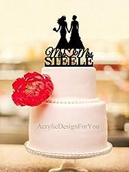 Lesbian Wedding Cake Topper, Mrs And Mrs Wedding Cake Topper, Two Women Wedding, Bride And Bride Cake Topper, Same Sex Wedding
