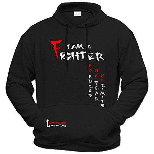 getshirts - Kampfkunst Lifestyle Shop - Hoodie - Kampfkunst Lifestyle - I am a Fighter - schwarz M