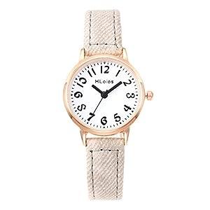 Hffan Damen Mädchen Freizeituhr Casual Studentenuhr Armbanduhren für Frauen Süß Beobachten Tabelle Handschmuck Armband Uhren Damenuhr Schau zu Handverzierungen
