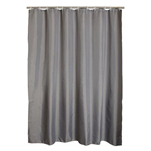 Rideau de douche, épaisseur de polyester imperméable à l'eau Protection de l'environnement Mildew 180 * 200cm (gris foncé) Rideau de douche ( Size : 150*180cm (59*71inch) )