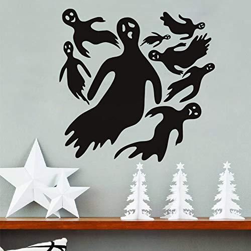 Fengdp Stücke Black Devil Ghost Entfernbare Wandaufkleber Halloween Dekoration Für Hauptwandkunst DIY Dekorative Abziehbilder Für Kinderzimmer 43 * 42 cm