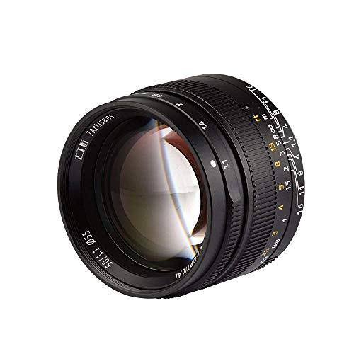 7gestaltet 50mm f1.1groß Aperture Manual Focus Prime Fixiertes Objektiv für Leica M Mount Kameras Stecker, M240, M3, M5, M6, M7, M8, M9, M9P, M10, schwarz -