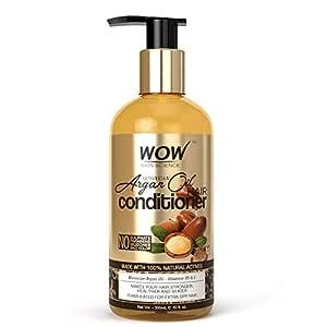WOW Skin Science Moroccan Argan Oil Conditioner - No Sulphates, Parabens, Silicones, Salt & Colour, 300 ml