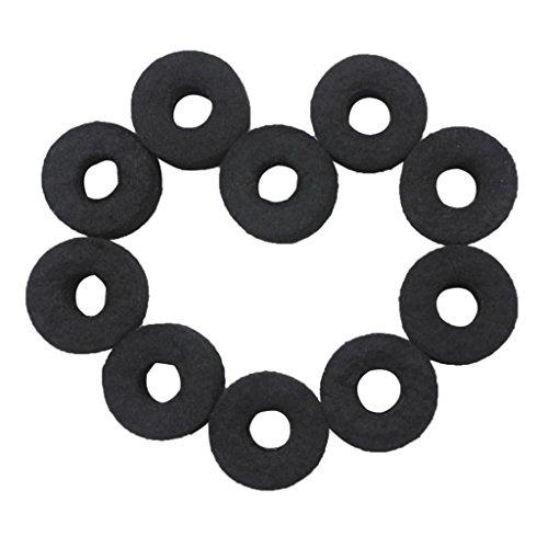 Gazechimp 10-teilig Beckenfilz Set, Becken Filz Auflagen Zubehör mit Standardgröße, Loch-Durchmesser: 25mm)