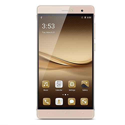 PADGENE R8 Smartphone Handy mit 6 Zoll IPS Diaplay und Android 5.1---MTK6580 Quad Core 1,3 GHz, 1 GB ROM und 8 GB RAM, Dual Sim (Dual-Verwendung), Dual-Kamera (2,0 M /5.0M),WIFI GPS G-Sensor SIM-Frei 2G / 3G Mobiltelefon Phablet