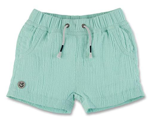 Sterntaler Kurze Hose für Jungen, Alter: 6-9 Monate, Größe: 74, Helltürkis (Jungen Kleid Shorts Leinen)