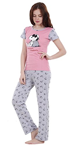 Ensemble pyjama d'été Snoopy femme, short et haut à manches courtes Mickey et Minnie femme TOYC- Ensemble Pantalon