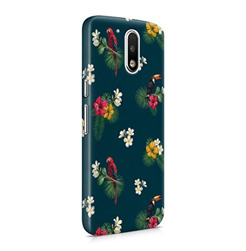 Parrot Birds Tropic Exotic Floral Aloha Pattern Print Motorola Moto G4 PLUS...